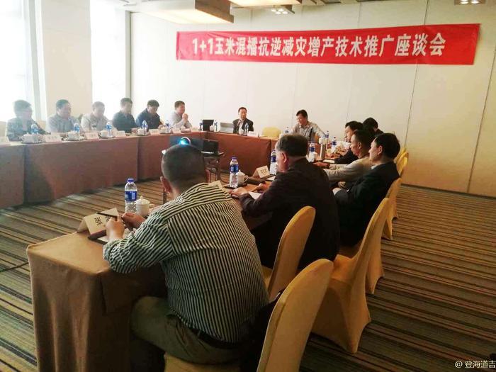 播播总站_河南省1+1玉米混播抗逆减灾增产技术推广座谈会在郑州顺利召开